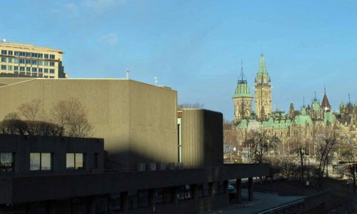 NAC with Parliament Hill in the background