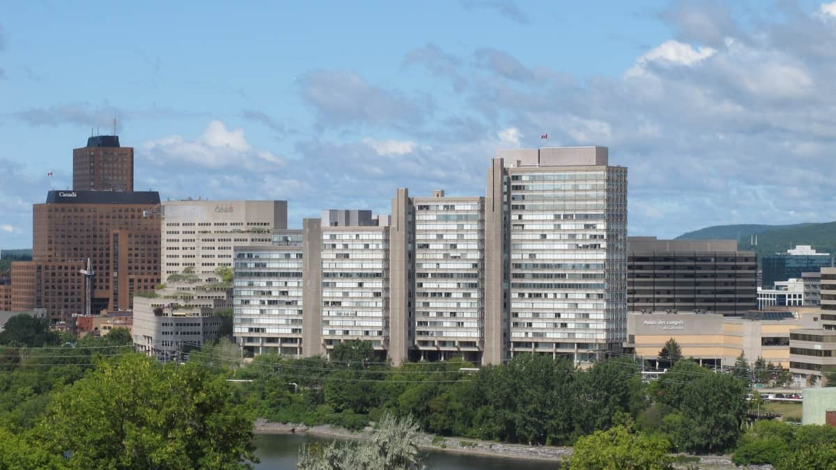 Multiple towers of Place du Portage Phase III