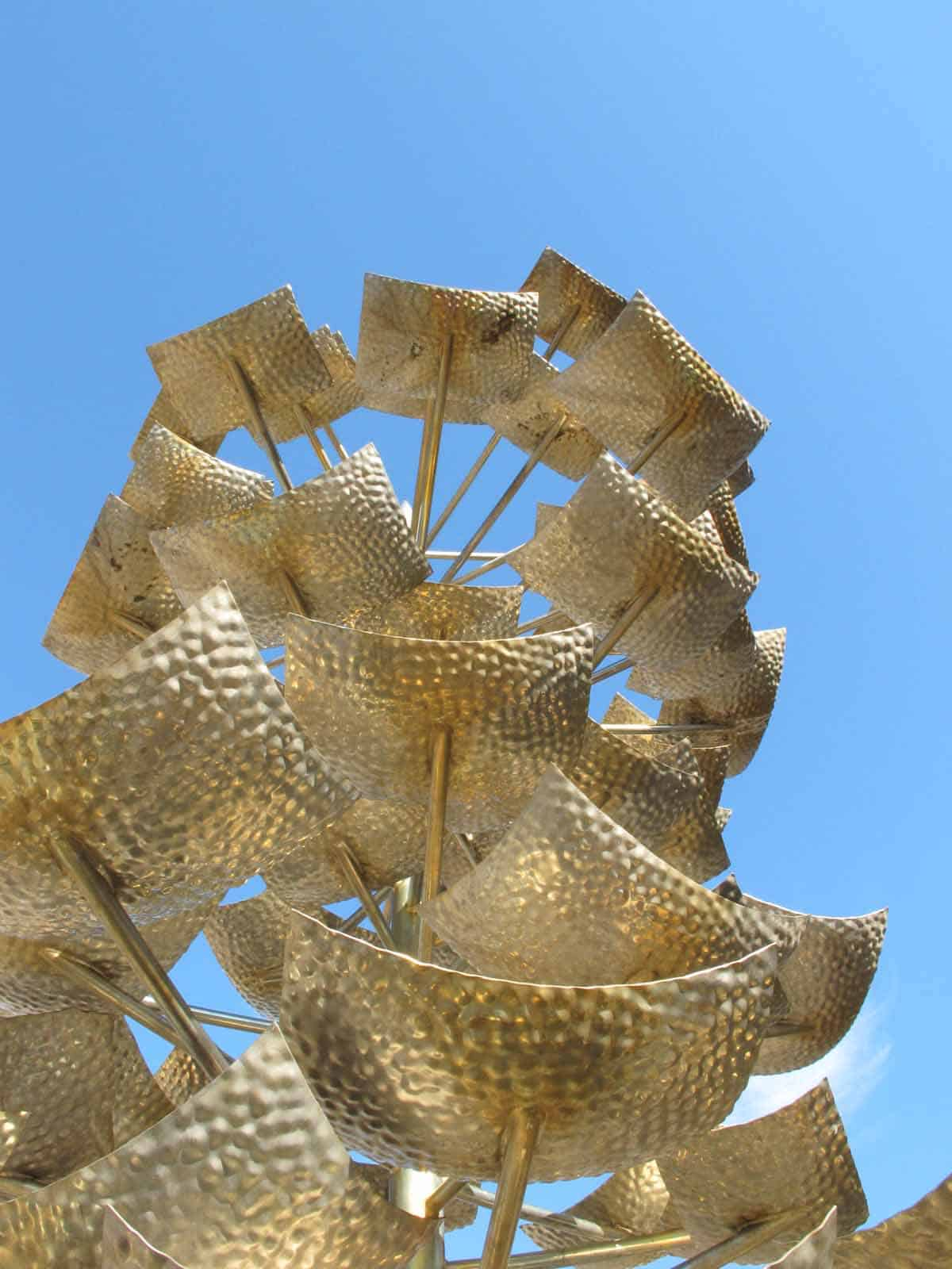 Detail of Tree sculpture from below