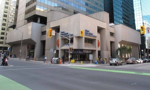 Library at corner of Laurier Avenue and Metcalfe Street