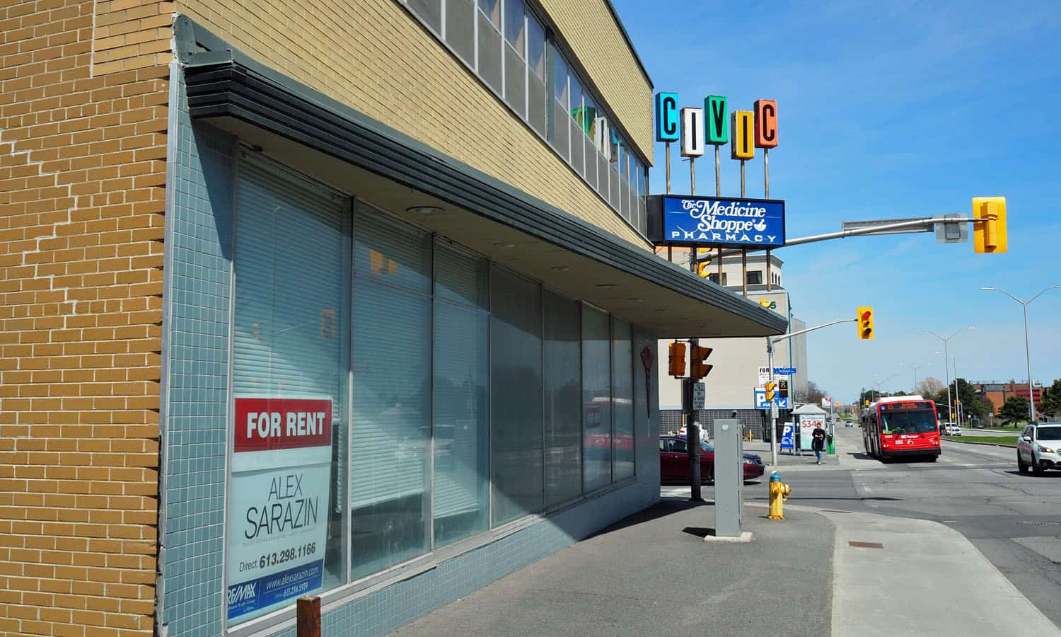 Carling Avenue street frontage